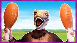In Real Life Dinosaur Dinner Time   Dinosaurs Eating Meat, Vegetables, Food Kids Videos
