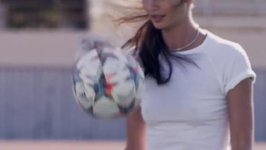 Lily Aldridge dreamt of becoming a footballer