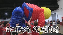 Destroy Minifig!!! LEGO Airigami Minifigure Gets Popped!