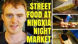 Taiwanese Street Food taste test at Ningxia Night Market in Taipei, Taiwan