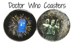 Doctor Who DIY Tardis And Weeping Angel Coasters- Another Coaster Friday Craft Klatch