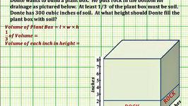 Problem Solving Using Volume (Common Core 5/6 Math Ex 7)