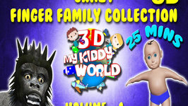 Crazy Finger Family Collection 3d  Top 25 Mins My Kiddy World Finger Rhymes Volume 1