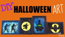 Halloween Art Decor DIY  Dollar Store Crafts