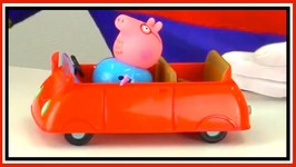 Toy Car Clown Videos - Peppa Pig And Family - New Car - Toys Collection