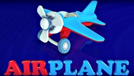 Animation For Kids  Games Puzzle And Learn Words Cartoon For Babies   Airplane