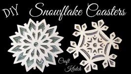 DIY Snowflake Coasters  Another Coaster Friday