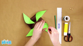 Two-Colored Paper Windmill