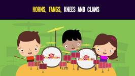 Horns, Fangs, Knees and Claws Song for Halloween - Halloween Songs for Kids