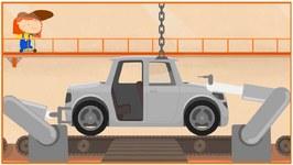 Car  Doctor  Kid's Cartoon Car Repairs - Car Factory Demo - Doc McWheelie's Garage