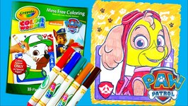 Coloring Skye - New Paw Patrol Coloring Book Crayola Color Wonder ...