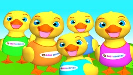 Five Little Ducks - Kid's English Nursery Rhyme - Cute Baby Song - Relaxing and Soothing Melody
