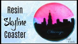 Resin Skyline Coaster DIY  Another Coaster Friday  Craft Klatch