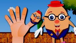 Humpty Dumpty Finger Family Nursery Rhyme  Finger Family Songs  Humpty Dumpty Family