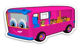 Pink Bus Wait for Me - Sing Colors Learning Rhymes for Kids