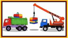 Lego Truck Cargo - Masha And The Car Clown Crane