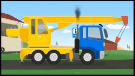 Kid's Cartoons  Truck Transformers (Garbage Truck, Crane And Cement Mixer) Doc McWheelie