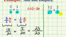 Adding & Subtracting Fractions with Different Denominators