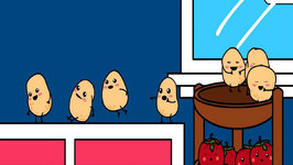 One Potato,Two Potato With Lyrics  Nursery Rhymes  Animated Songs for Children