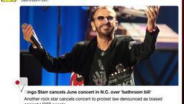 Ringo Starr Latest Celeb to Boycott NC Over Bathroom Bill