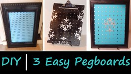 DIY  3 Peg Boards