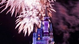 The 2013 Walt Disney World Christmas Holiday Wishes Fireworks Show-in HD