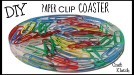 DIY Paper Clip Coaster  Back To School  Another Coaster Friday