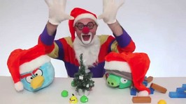 Children's Videos  Toy Car Clown  Christmas Angry Birds And Pigs Demo For Kids