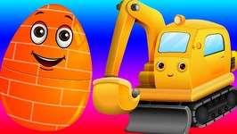 Surprise Eggs Toys - Construction Vehicles for Kids  Bull Dozer, Road Roller & more  ChuChuTV
