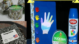 Back To School DIY - Altered Composition Book - Stick Together Duct Tape And Krylon Spray Paint