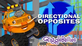 Monster Trucks Learn Opposites - Directional Opposites