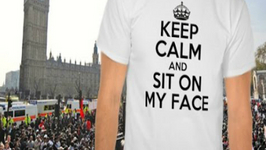 Face-Sitting Porn Protest Outside UK Parliament