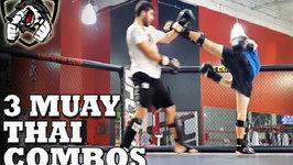 3 Badass Muay Thai Combos (Kicks, Knees And Elbows)