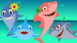 Shark Finger Family Nursery Rhyme  Animal Finger Family  Fish Finger Family