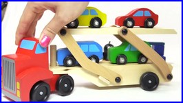 Kid's Toys  Color Car Garage Delivery - Toy Car Transporter Truck And Trailer And Moley