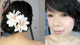 Summer Bridal Hair Tutorial: 2-in-1 Quick and Simple Side Knot Updo & Casual