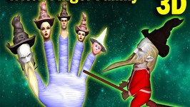 Funny Witch vs Crazy Broom Finger Family 3D  Crazy Halloween Songs 3D