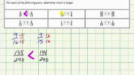 Ex: Compare Fractions with Inequality Symbols Using a Common Denominator and Decimals