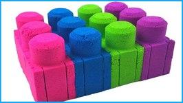 Kinetic Sand Mega Bloks Legos Colors How To