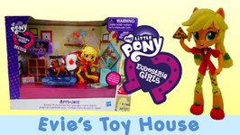 MLP Equestria Girls Minis Unboxing - Pinkie Pie's Slumber Party Applejack