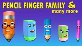 Pencil Cartoons Finger Family Children Nursery Rhymes  Finger Family Songs
