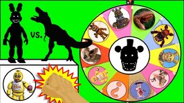 DINOSAURS DINOSAURS Vs Five Nights At Freddy's GAME  Surprise Dinosaur Plus FNAF Toys  Slime Wheel Games Vs Five Nights At Freddy's GAME  Surprise Dinosaur Plus FNAF Toys  Slime Wheel Games
