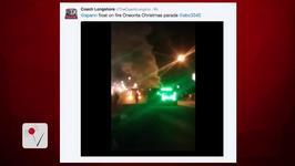 Social Media Captures Santa Going Up In Flames During Alabama Christmas Parade