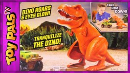 Dino Trapper Trailer Play Set By Matchbox Dinosaur Toy With T-Rex Toys Review Videos