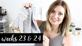 Twin Pregnancy Vlog Weeks 23 and 24 - Body Aches, Cravings, Baby Buys