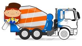 Doc McWheelie's Magic Brush  Paint A Cement Truck  Children's Car Cartoons