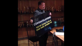 Cameras Capture Moment 'Star Wars' Fan Learns He Won A Part in 'Episode VII'