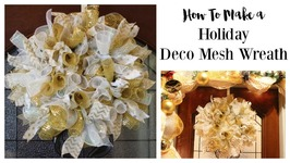 How to Make A Deco Mesh Wreath by Home Made Luxe Craft Subscription Box