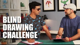 Mad Stuff With Rob  Blind Contour Drawing Challenge feat. Varun Thakur