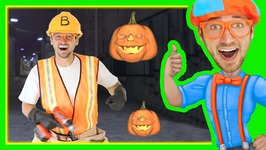 Halloween Songs For Kids With Blippi - Trick Or Treat Nursery Rhyme